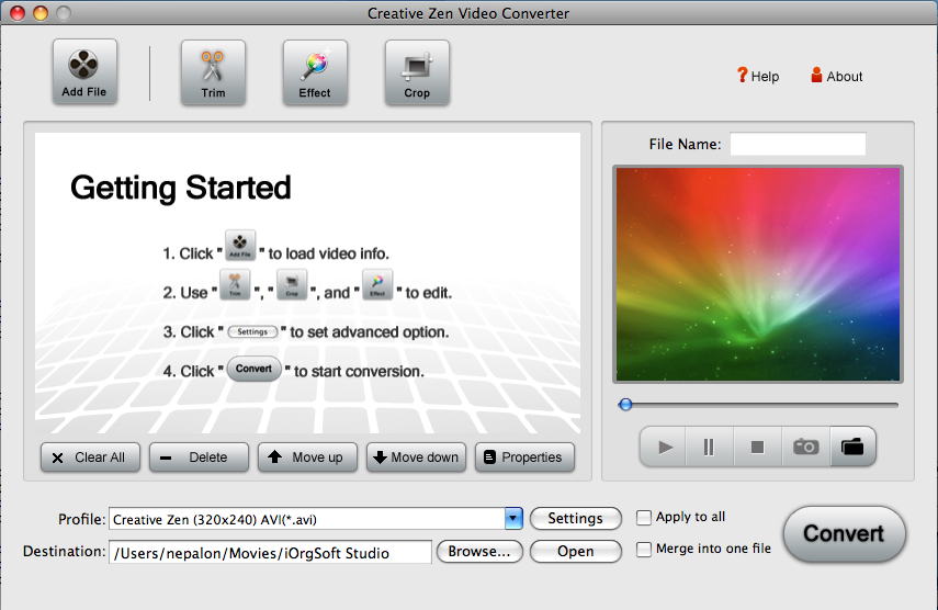 Creative Zen Converter for Mac