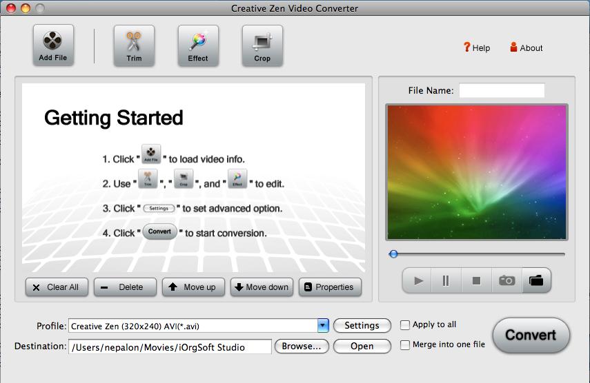 Creative Zen Converter for Mac