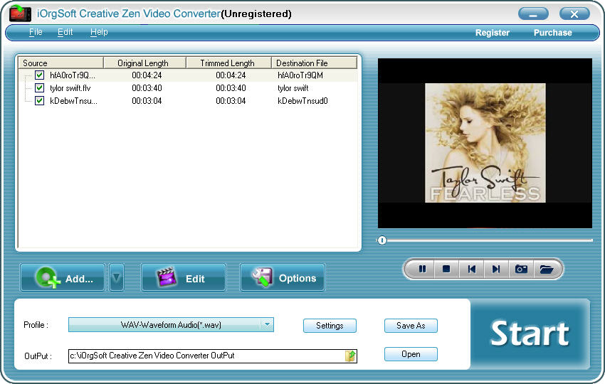 MPEG to Creative Zen Converter