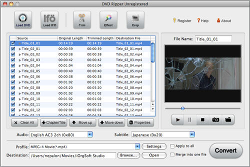 DVD to FCE, import DVD to Final Cut Express.