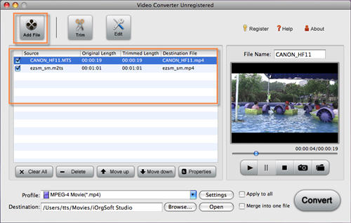 Import mts into FCP