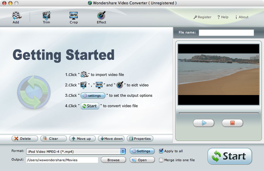 MPEG to PSP Converter for Mac OS