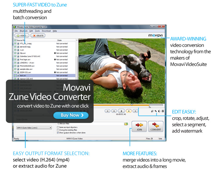 QT to Zune MP4 Video Converter
