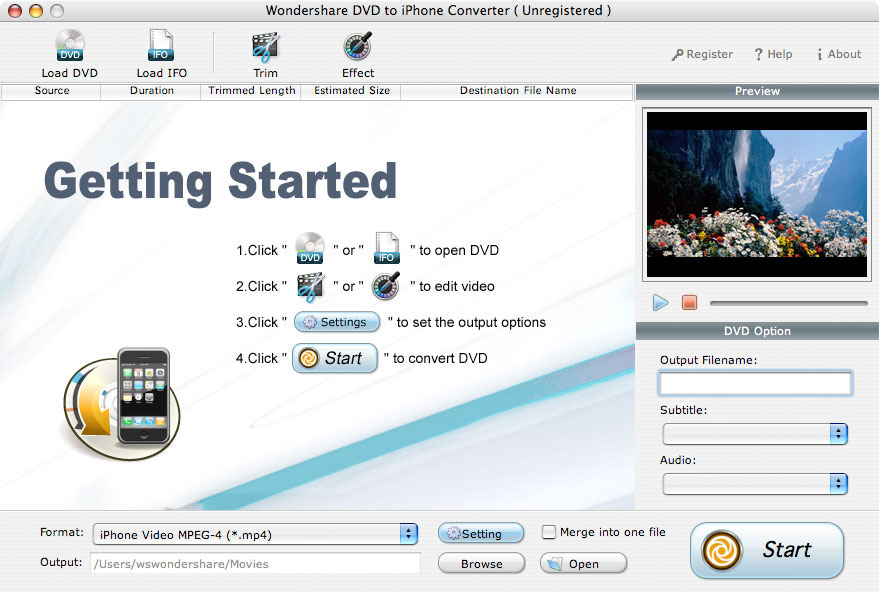 IFO to iPhone for Mac, Convert DVD to iPhone for Mac, Rip DVD to iPhone for Mac, Mac DVD to iPhone Converter