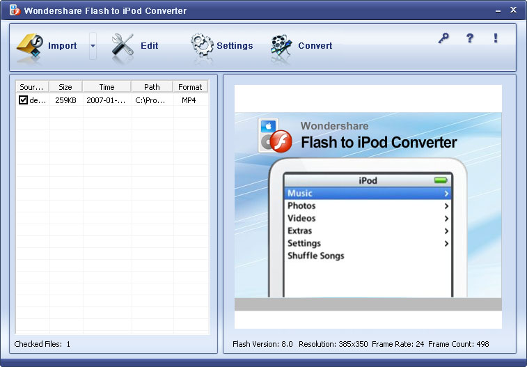 SWF to iPod MP4 Converter