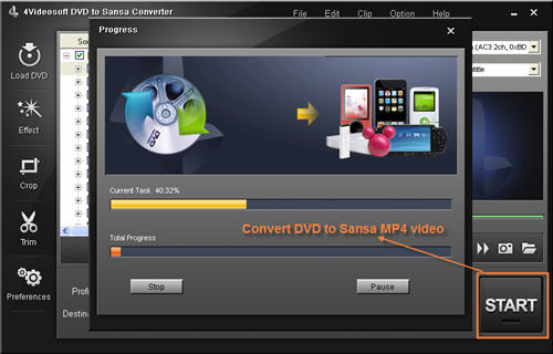 DVD to Sansa Converter