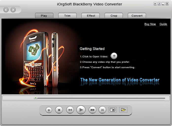 Convert 3G2 to BlackBerry Video files with 3GPP to BlackBerry Converter