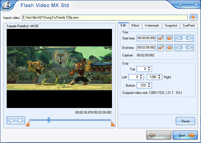 MPEG to SWF Flash Converter