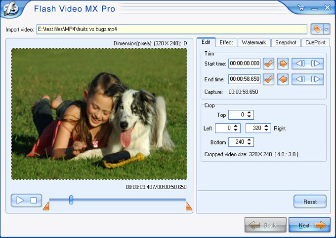 MPEG to SWF & FLV Flash Converter