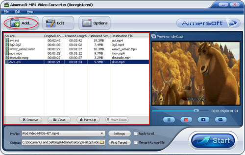 Convert video to mp4 with MP4 Video Converter