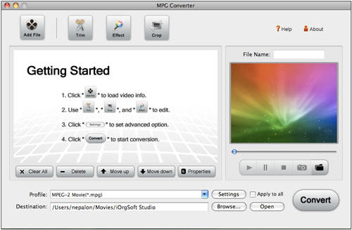 MPEG Video Converter for Mac