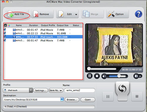 Import wmv to itunes with wmv video converter