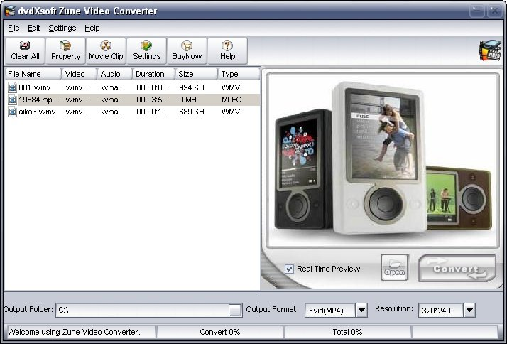 MPEG to zune converter