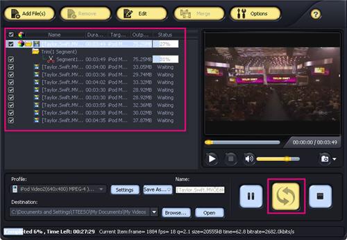 Convert vlc video files to itunes