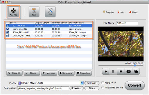 M2TS to FCP Converter