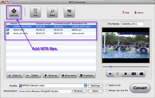 Convert & Import mts to final cut express with MTS to FCE Converter