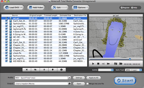 Import TRP to Final Cut Express