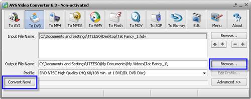 HDV to DVD & Blu-Ray Converter