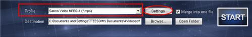 Download videos to Sansa Fuze/View/Clip