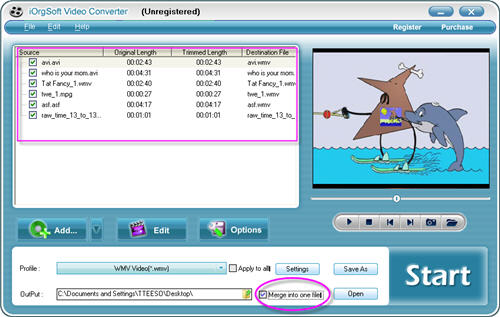how to combine two mp4 files into one pdf