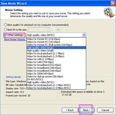 Combine video files in Windows Movie Maker