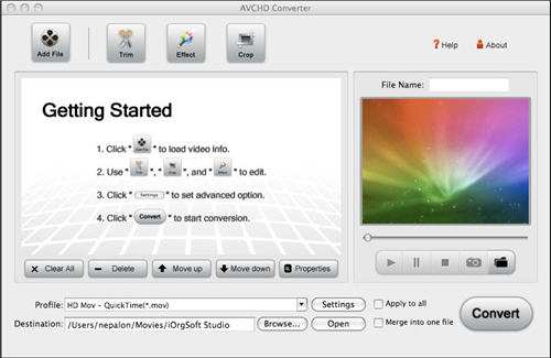Camcorder to iMovie Converter