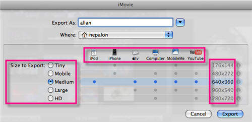 iMovie to Youtbue Converter