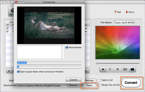 how to put video files in imovie