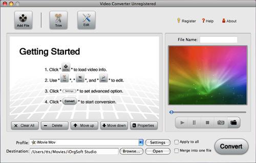 Import MP4 into iMovie