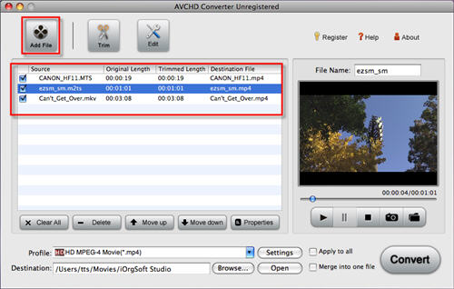 import Sony DVD to iMovie