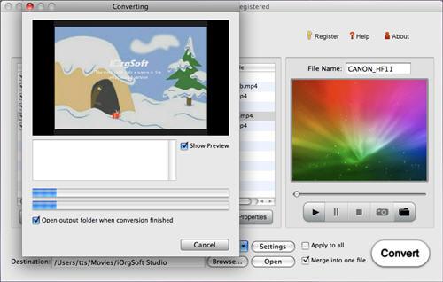 Import VOB to iMovie.