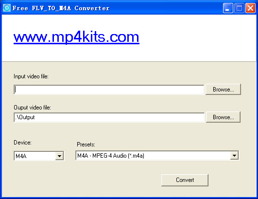 Free FLV to M4A Converter screenshot