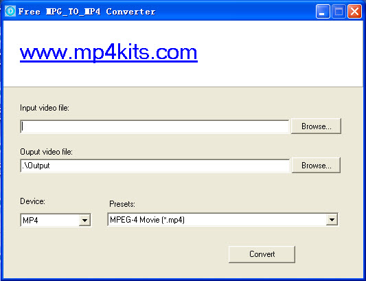 The world best free mpg to mp4 converter.