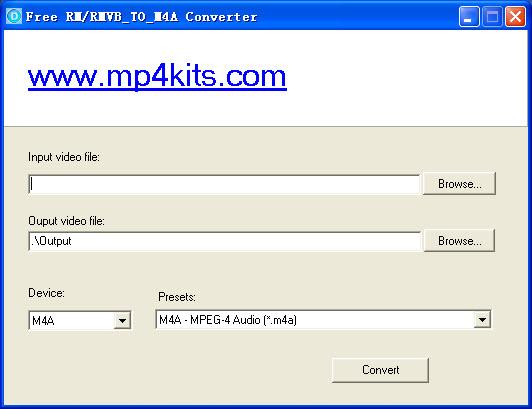 Free RM to M4A Converter screenshot