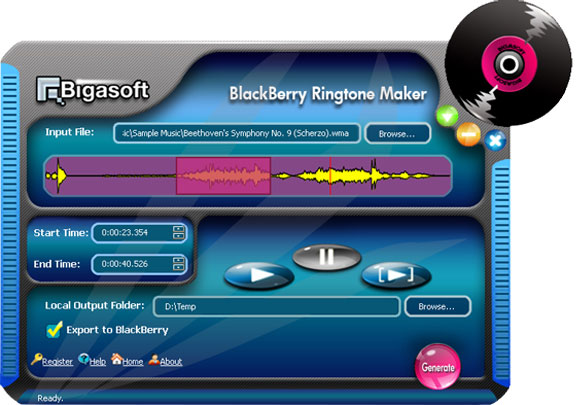 BlackBerry RingTone Maker