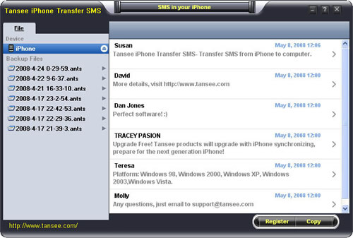 iPhone SMS Blackup for Mac