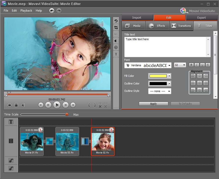 Video editor with special effects online free
