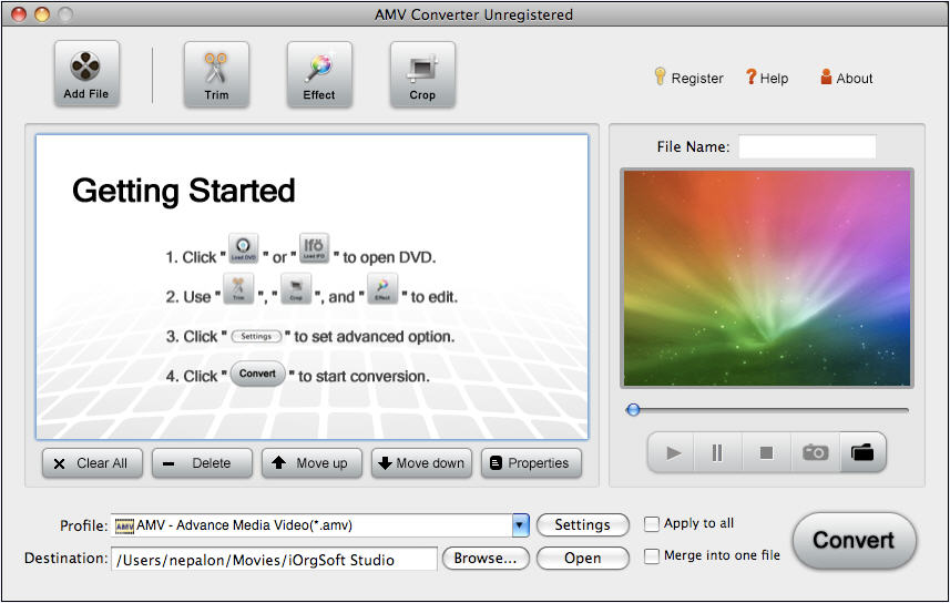 AMV Converter for Mac