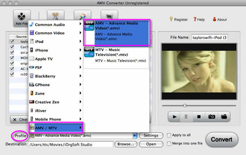 Convert video to AMV with Apowersoft AMV Converter