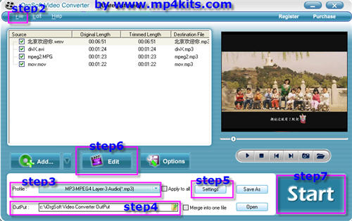 Separate mp3, wav, audio from videos.